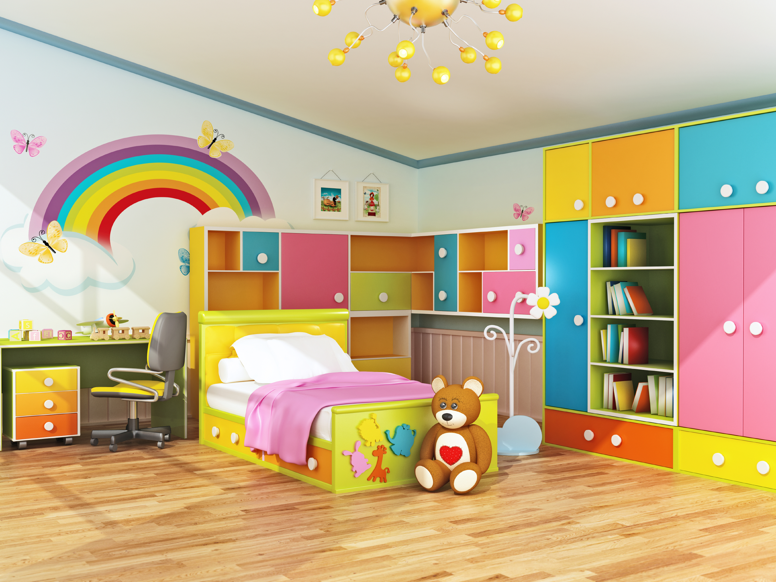 Plan ahead when decorating kids 39 bedrooms rismedia 39 s for Childrens bedroom wall designs