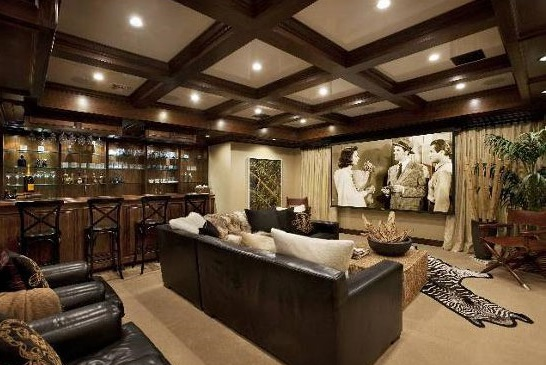 The home theater of The Osbournes' former Beverly Hills mansion.