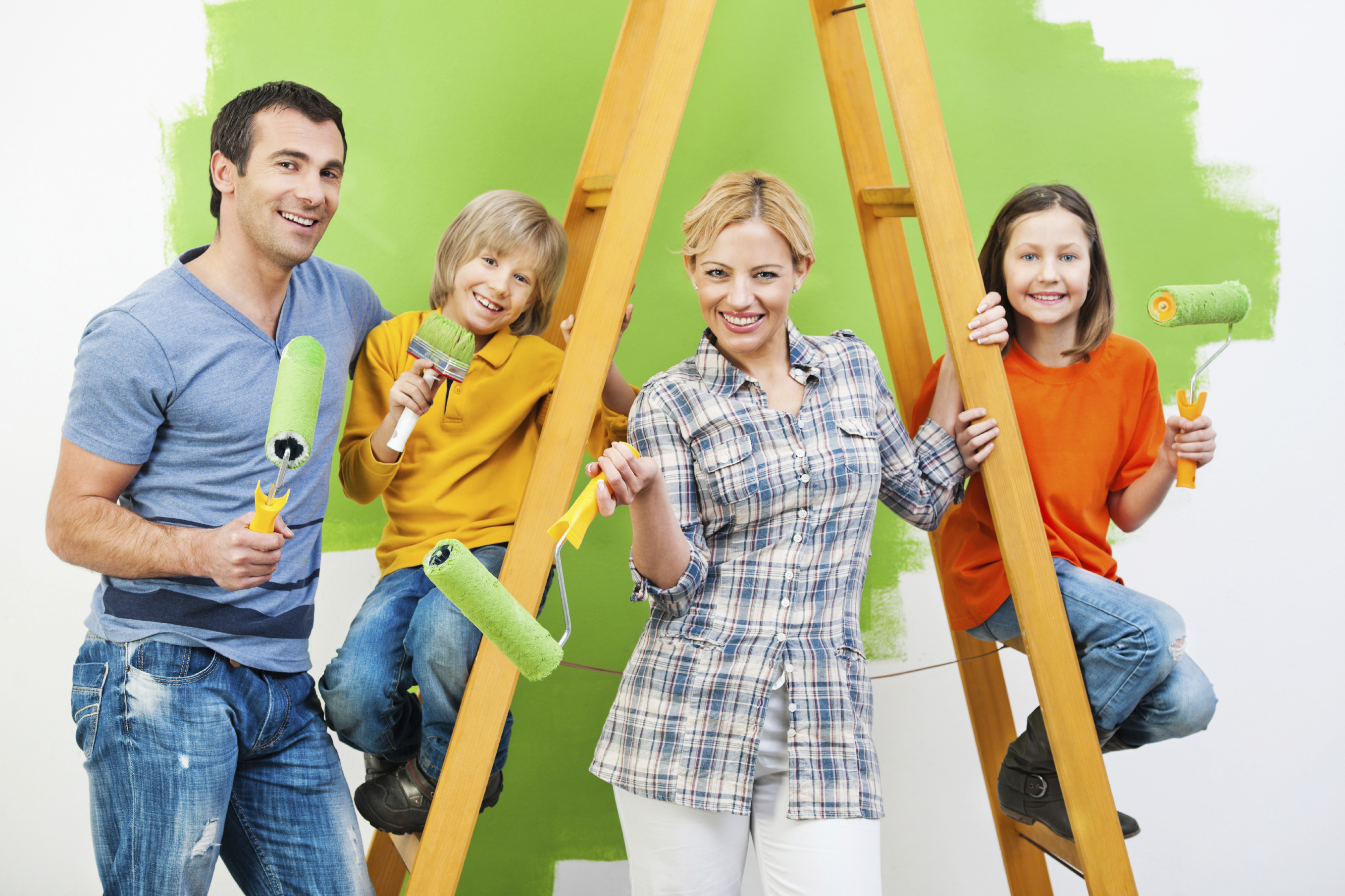 Painting Family Preparing A Home For The Market Can Seem Like Full Time Job Without Paycheck While Upgrades Increase Your Homes Value And