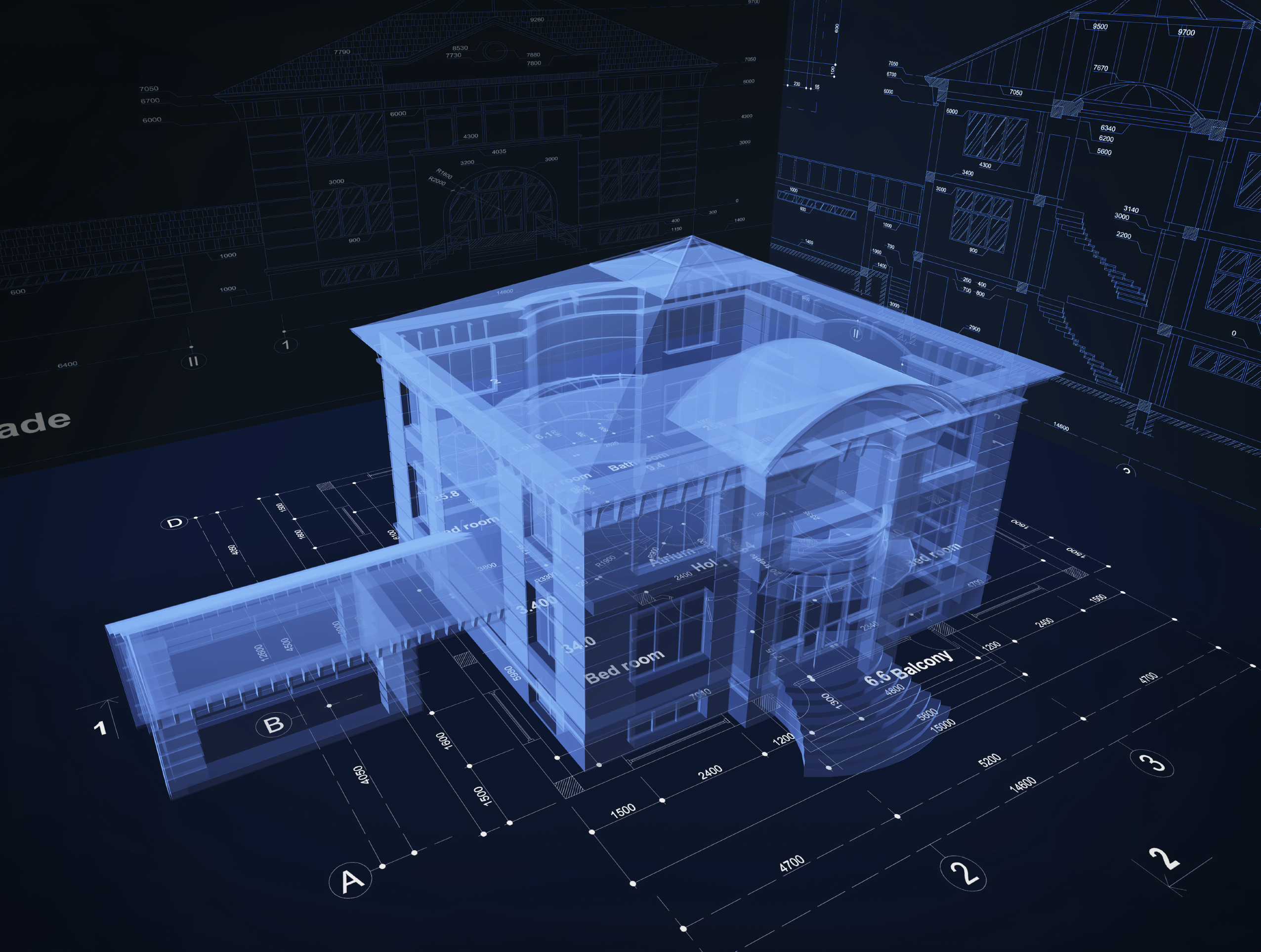 Holograms on Residential House Plans