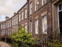 Traditional English terraced houses in Newcastle