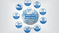 Predictive web and data analytics vector icons