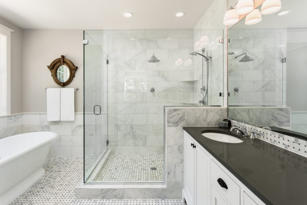 All About Clean Master Bathroom Trends RISMedia's Housecall Stunning Master Bathroom