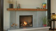 concrete fireplace