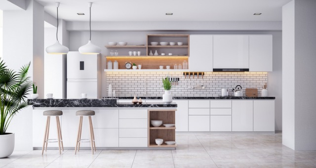 cozy-modern-kitchen-white-room-interior-3drender-picture-id1136936441