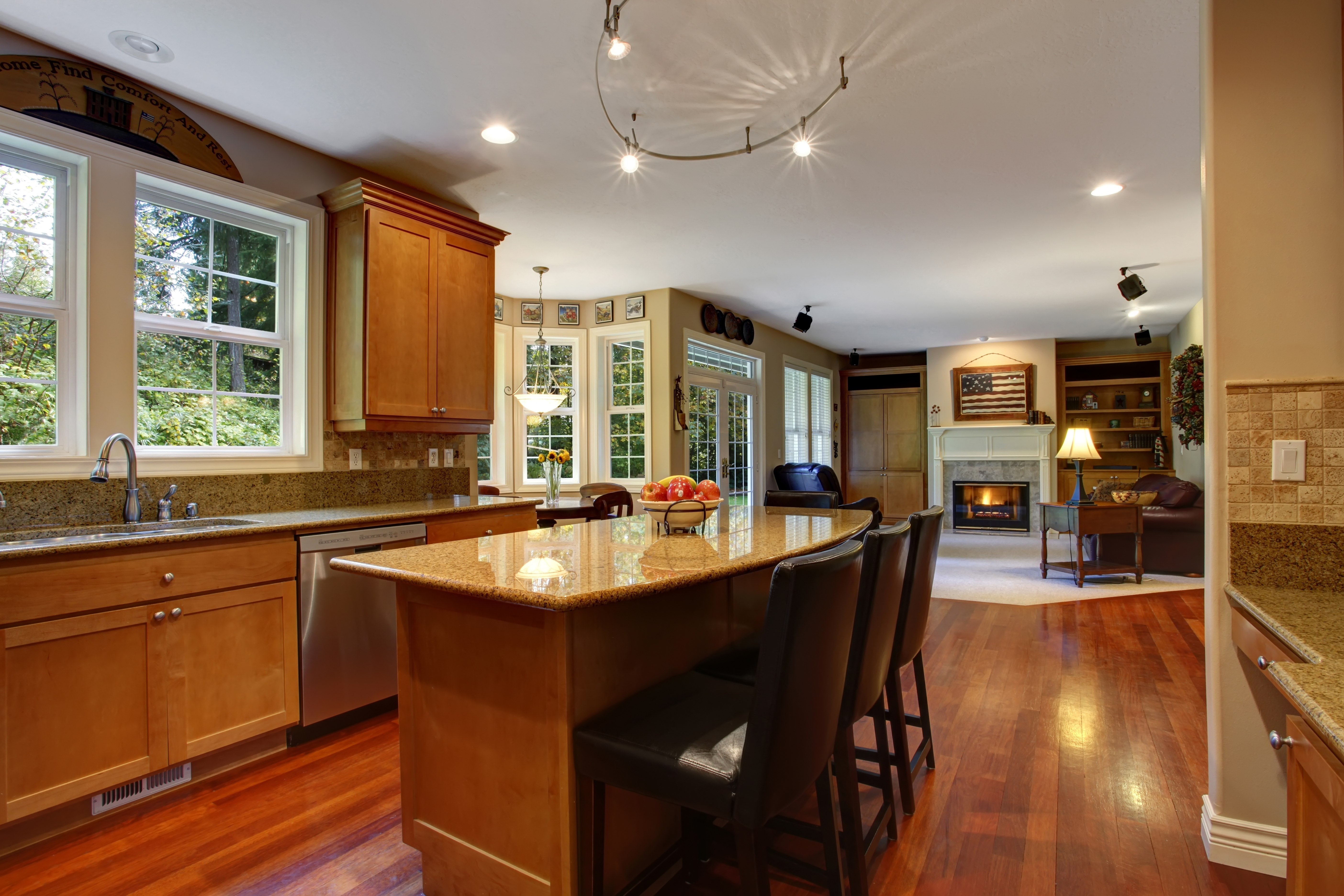 open floor plan kitchen 2015 home design trend predictions rismedia s housecall 3724