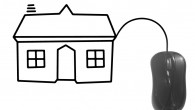 computer mouse and house, concept